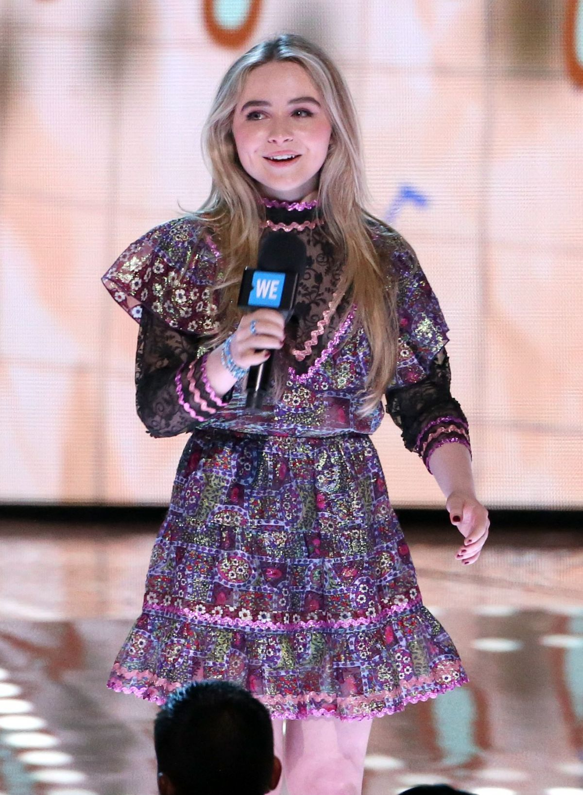 SABRINA CARPENTER Performs at WE Day California in Los Angeles 04/27/2017