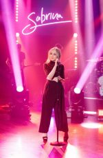 SABRINA CARPENTER Performs on The Late Late Show with James Corden 04/17/2017