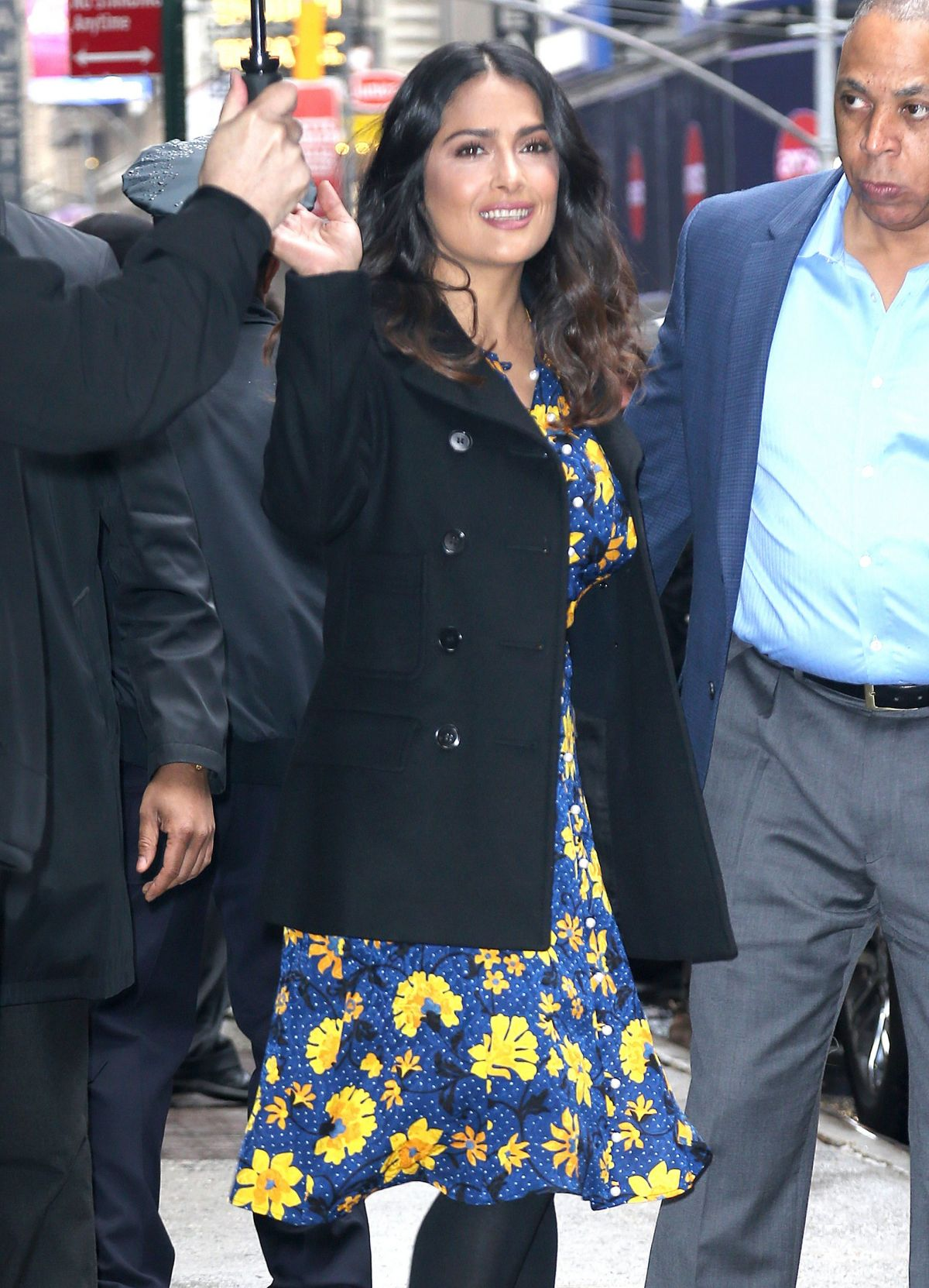 SALMA HAYEK Arrives at Good Morning America in New York 04/20/2017