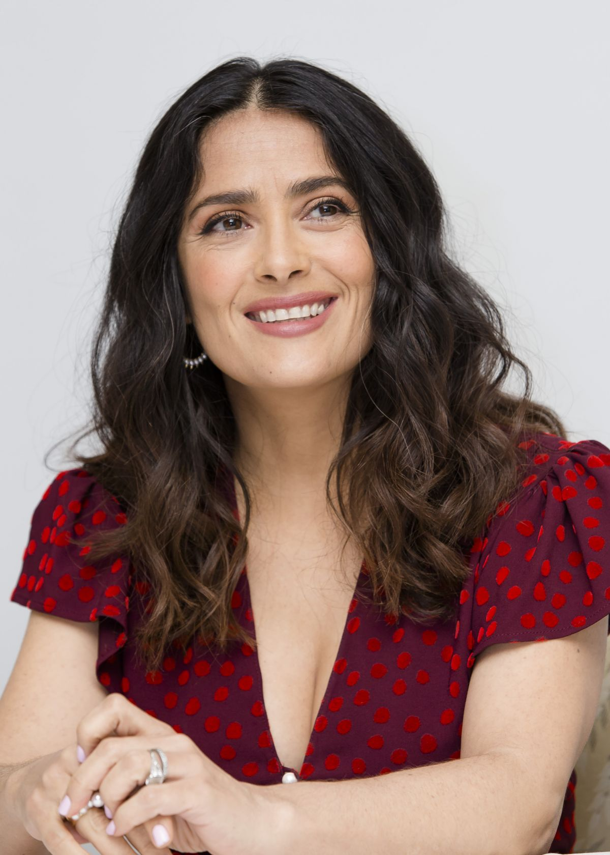 Salma Hayek At How To Be A Latin Lover Press Conference In Beverly How To Be
