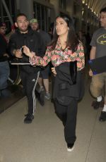 SALMA HAYEK at LAX Airport in Los Angeles 04/24/2017
