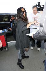 SALMA HAYEK at Los Angeles International Airport 04/18/2017