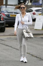 SAM FAIERS Leaves Amy Childs Beauty Salon in Essex 04/22/2017
