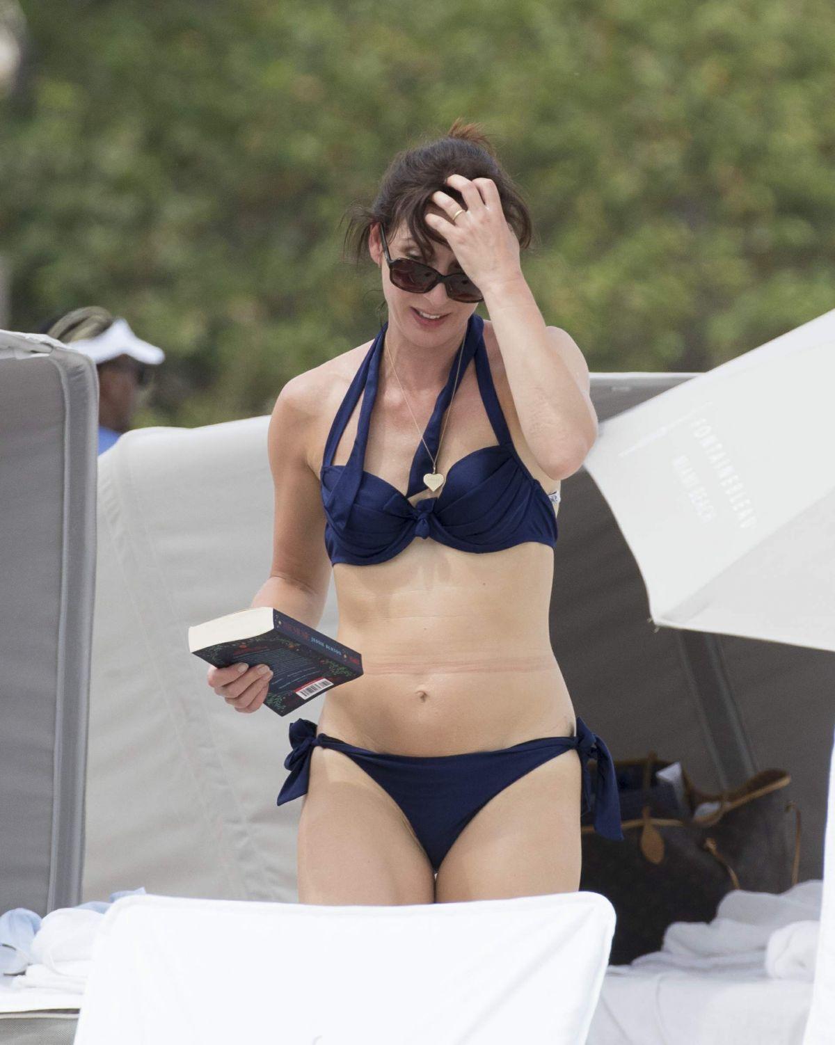 SAMANTHA CAMERON in Bikini at a Beach in Miami 04/06/2017