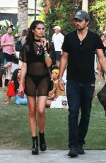 SARA SAMPAIO Out at Coachella Festival in Indio 04/16/2017