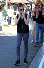 SARAH HAY Out at The Grove in West Hollywood 04/09/2017