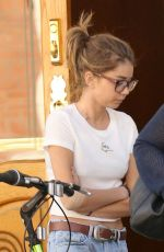 SARAH HYLAND in Ripped Jeans Out in Los Angeles 03/31/2017