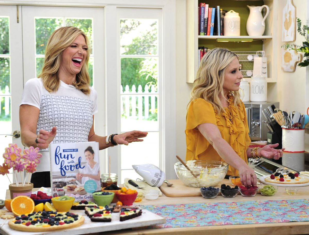 Home Decorating Tv Shows sarah michelle gellar on the set of home & family tv show in los