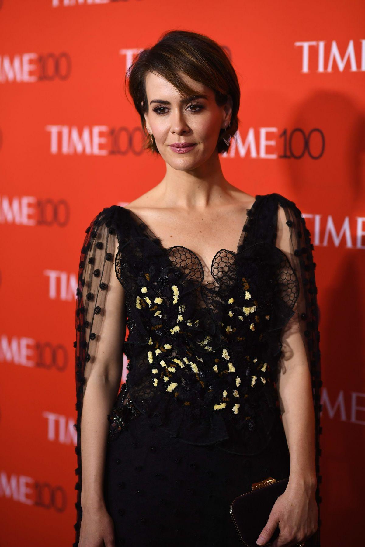 SARAH PAULSON at 2017 Time 100 Gala in New York 04/25/2017 ...