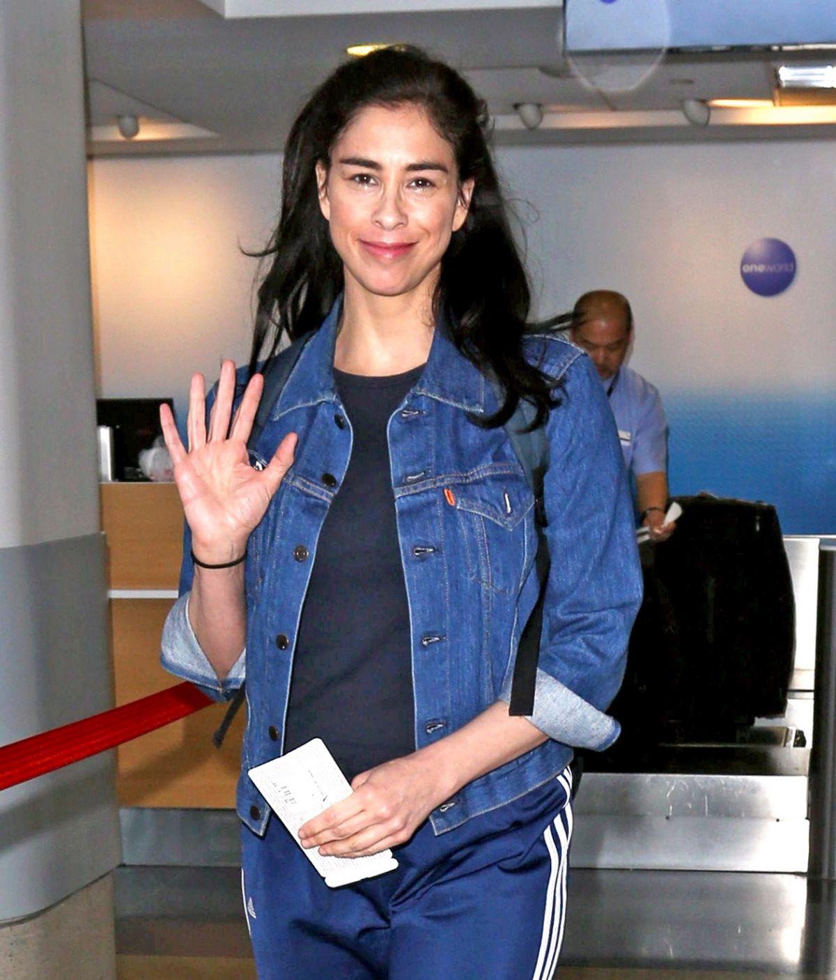 SARAH SILVERMAN at Los Angeles International Airport 04/13/2017