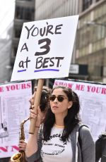 SARAH SILVERMAN at March and Rally to demand President Donald Trump Release His Tax Returns in New York 04/15/2017