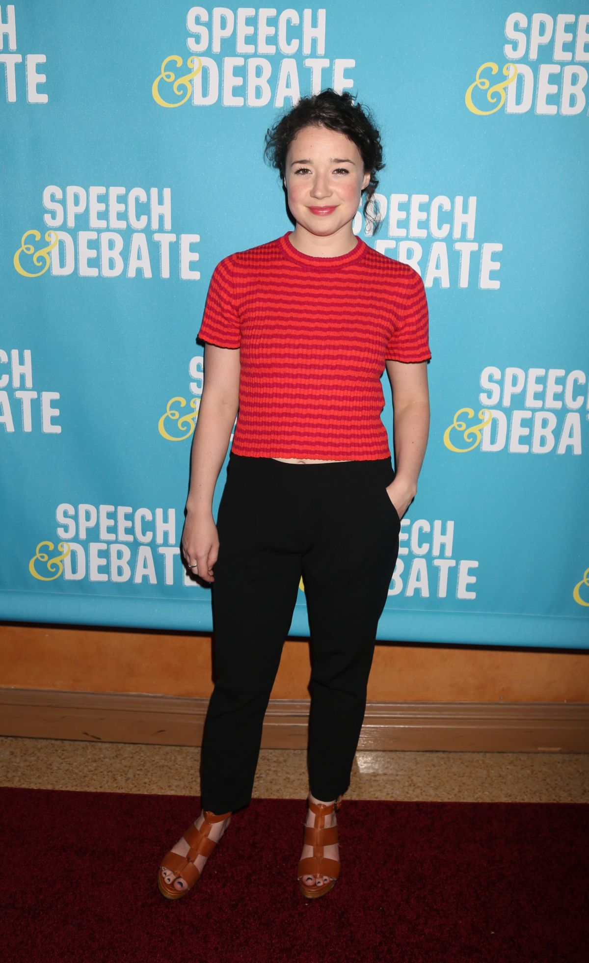 SARAH STEELE at Speech & Debate Premiere in New York 04/02/2017