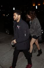 SELENA GOMEZ and The Weeknd Night Out in Beverly Hills 04/06/2017