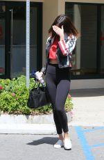 SELENA GOMEZ in Tights Leaves Gym in Los Angeles 04/13/2017