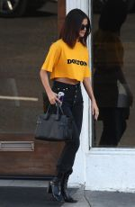 SELENA GOMEZ Leaves Shamrock Tattoo in Hollywood 04/09/2017