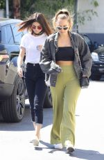 SELENA GOMEZ Out for Lunch in Los Angeles 03/31/2017