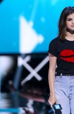 SELENA GOMEZ Performs at WE Day California in Los Angeles 04/27/2017