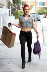 SHARNA BURGES Arrives at Dancing with the Stars Rehearsal Studio in Los Angeles 04/27/2017