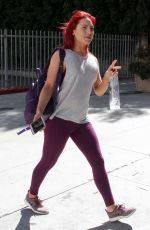 SHARNA BURGESS Arrives at DWTS Studio in Los Angeles 04/19/2017