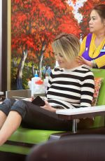 SHARON STONE at a Nail Salon in Beverly Hills 03/31/2017