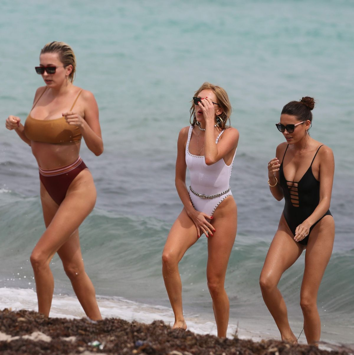 SHEA MARIE, CAROLINE VREELAND and MELODY LE in Bikinis on the Beach in Miami 04/06/2017