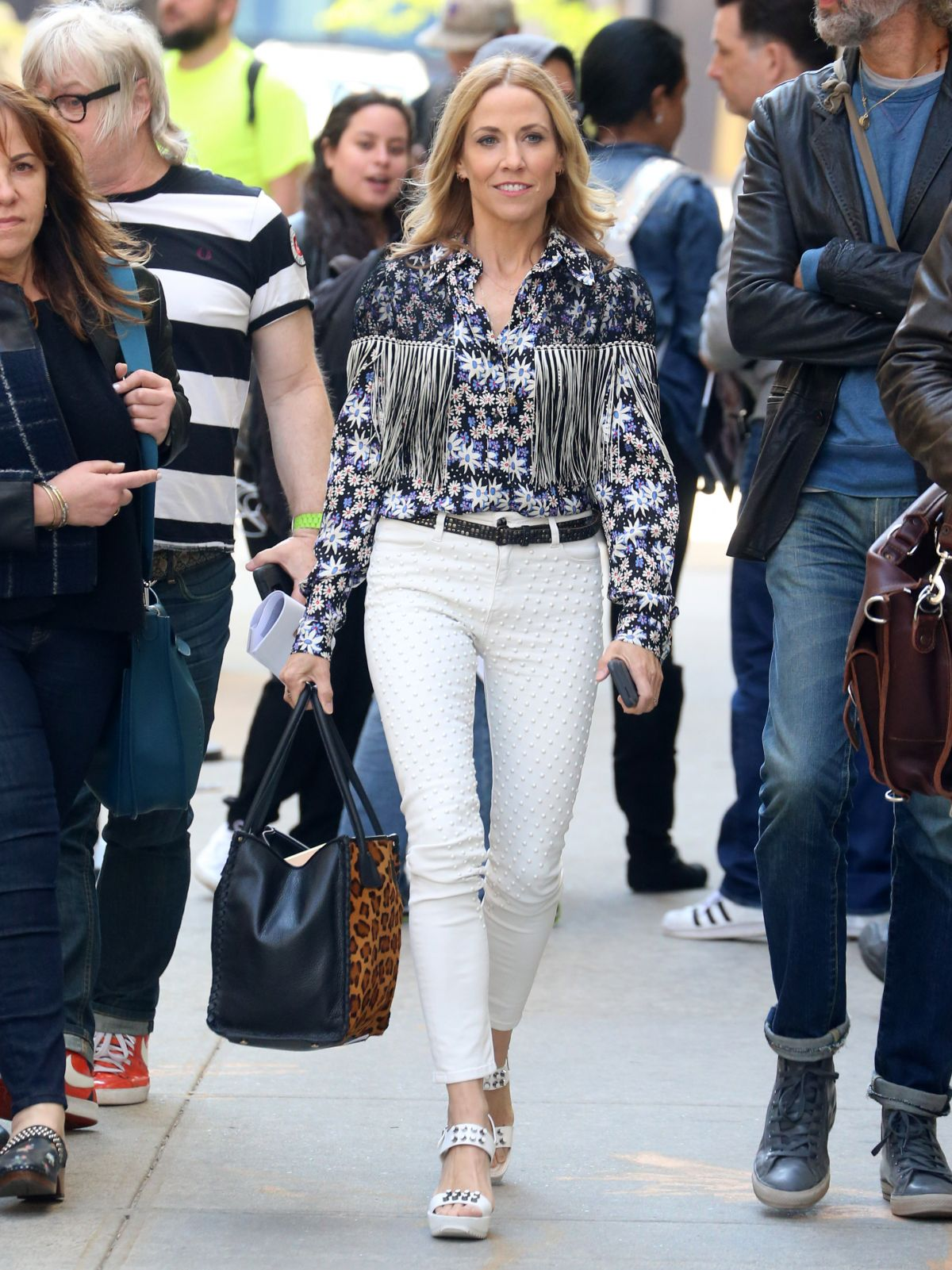 SHERYL CROW Out and About in New York 04/18/2017