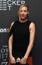 SIENNA MILLER at The Lost City of Z Screening in New York 04/11/2017