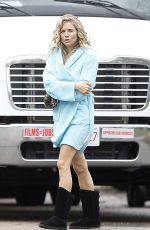SIENNA MILLER on the Set of The Burning Woman Movie in New York 04/26/2017