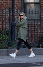SIENNA MILLER Out and About in New York 04/08/2017