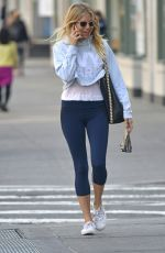 SIENNA MILLER Out in New York 04/11/2017