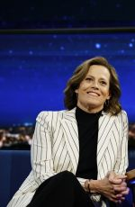 SIGOURNEY WEAVER at Late Show with Stephen Colbert 04/05/2017