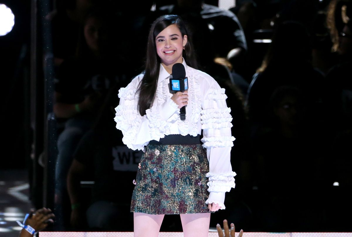 SOFIA CARSON Performs at WE Day California in Los Angeles 04/27/2017