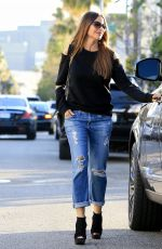 SOFIA VERGAR Leaves Il Pastaio in Beverly Hills 04/19/2017