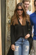 SOFIA VERGARA Out Shopping in Rome 04/08/2017