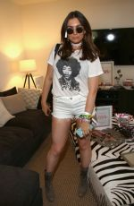 SOPHIE SIMMONS at Republic Records & SBE Host Hyde Away Coachella Party in Indio 04/14/2017