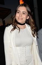 SOPHIE SIMMONS Leaves Harper's Bazaar Party in Los Angeles 04/26/2017