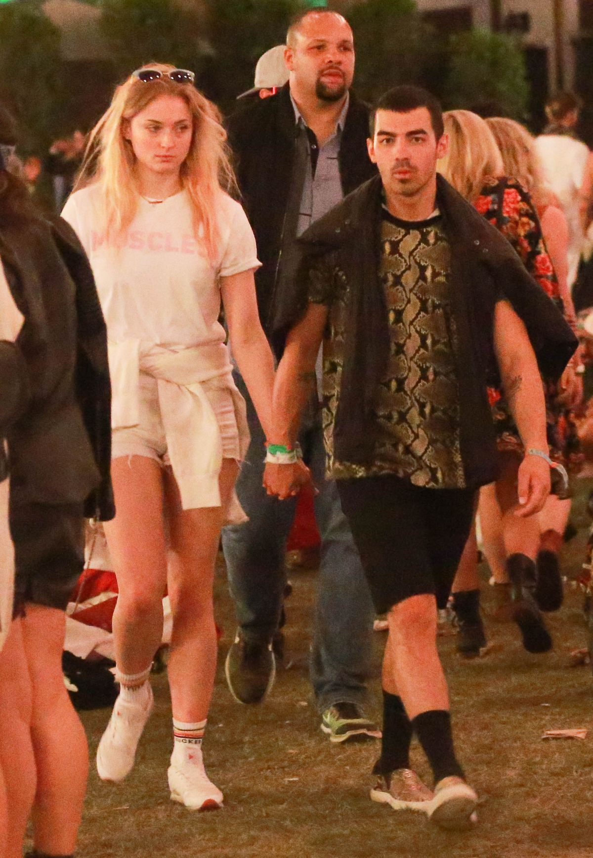 SOPHIE TURNER and Joe Jonas Night Out at Coachella in Indio 04/14/2017