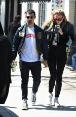 SOPHIE TURNER and Joe Jonas Out and About in Los Angeles 04/19/2017