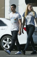 SOPHIE TURNER and Joe Jonas Out at Ventura Blvd in Los Angeles 04/02/2017
