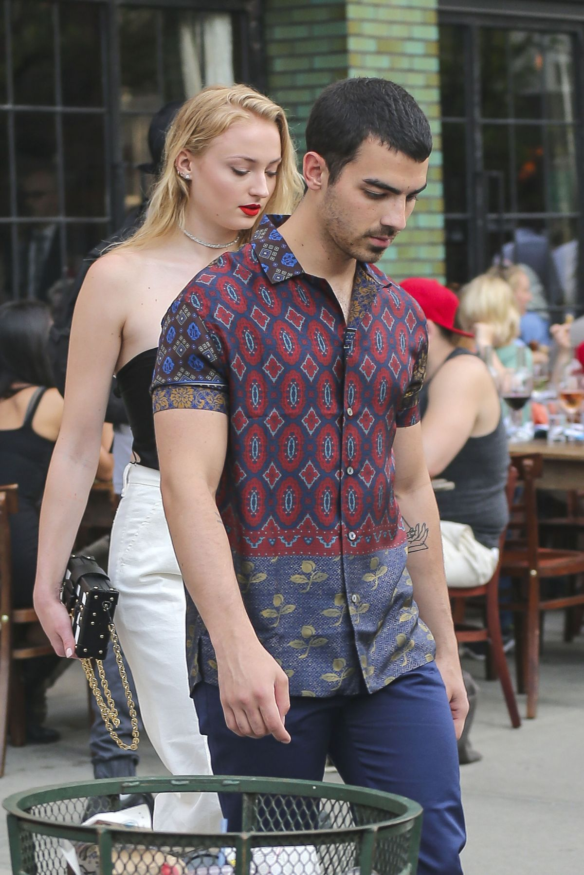 SOPHIE TURNER and Joe Jonas Out for Dinner in New York 04/29/2017