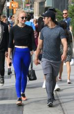SOPHIE TURNER and Joe Jonas Out in New York 04/29/2017