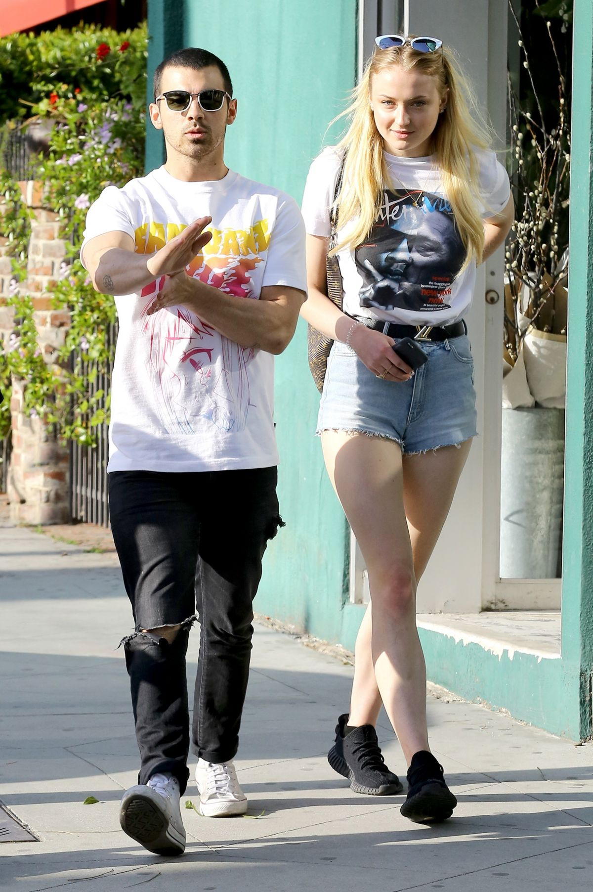 SOPHIE TURNER and Joe Jonas Out in West Hollywood 04/11/2017
