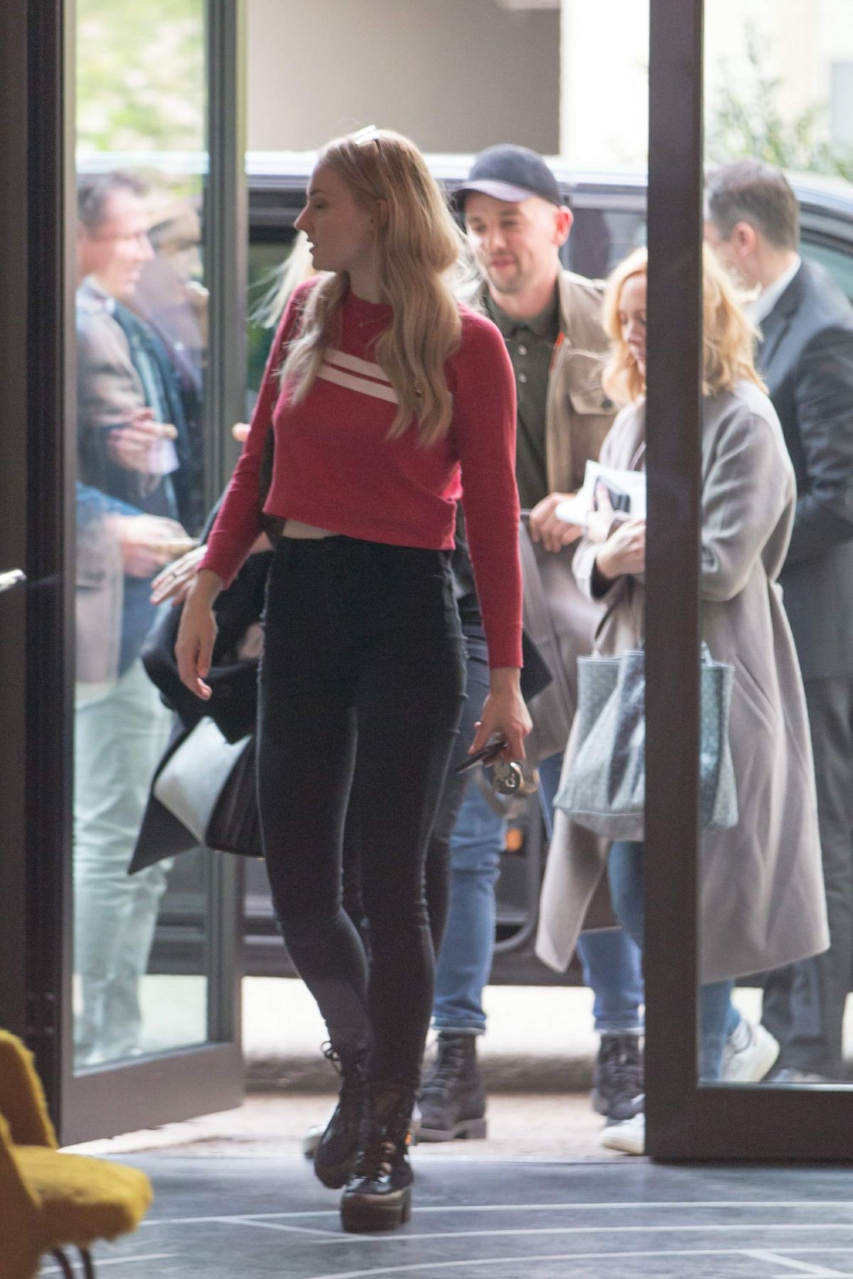 SOPHIE TURNER Arrives at Her Hotel in Berlin 04/27/2017