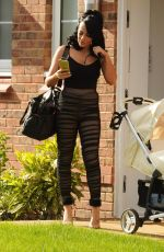 STEPHANIE DAVIS Leaves Her Home in Liverpool 04/25/2017