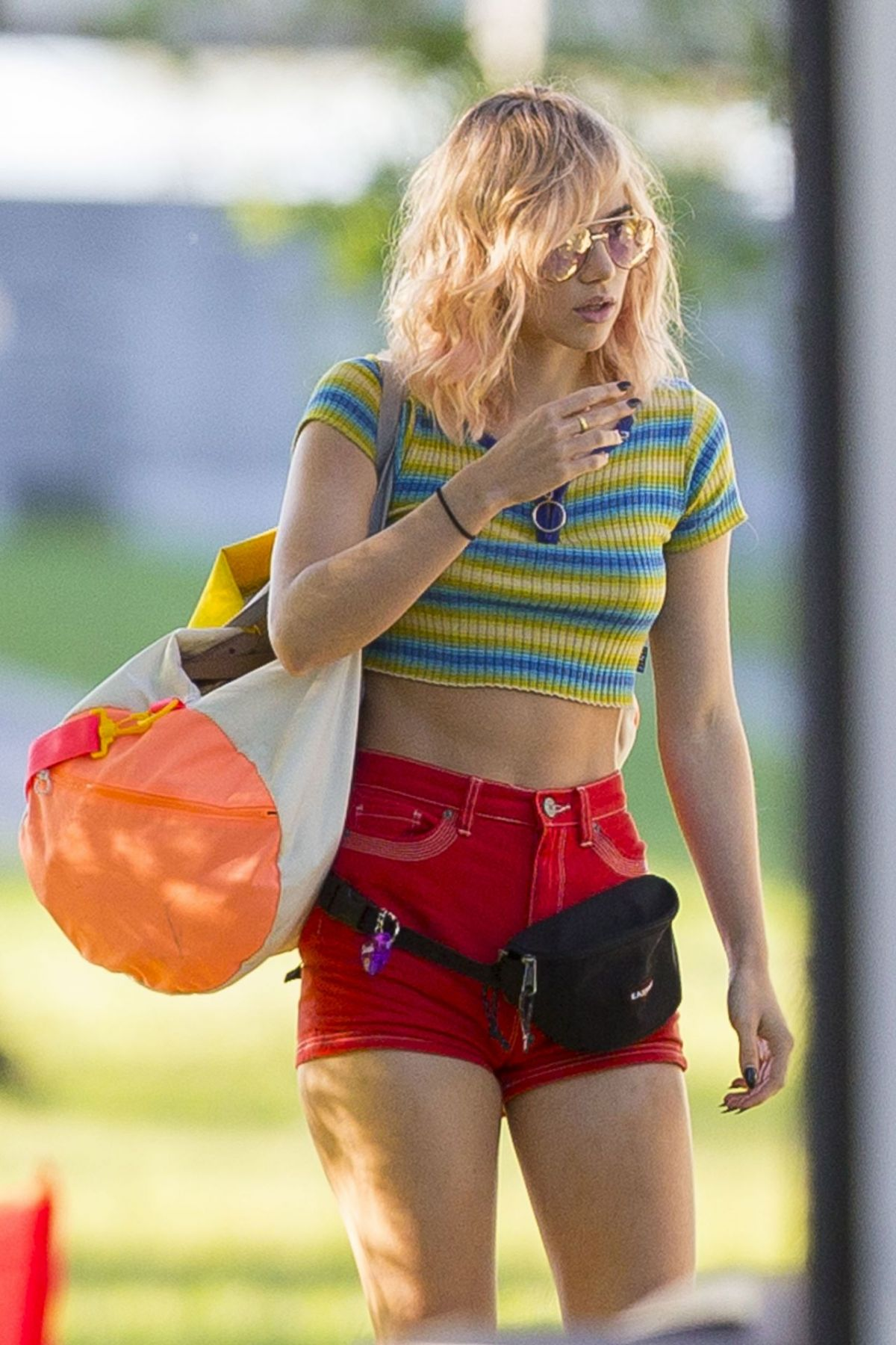 SUKI WATERHOUSE on the Set of Assassination Nation in New Orleans 04/03/2017