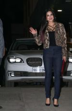 SUNNY LEONE Out and About in Mumbai 04/17/2017