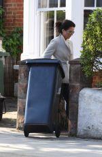 SUSANNA REID Bringing in Her Bins in London 04/07/2017