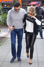 SYLVIE MEIS and Charbel Aouad After Engegment Night in Hamburg 04/13/2017