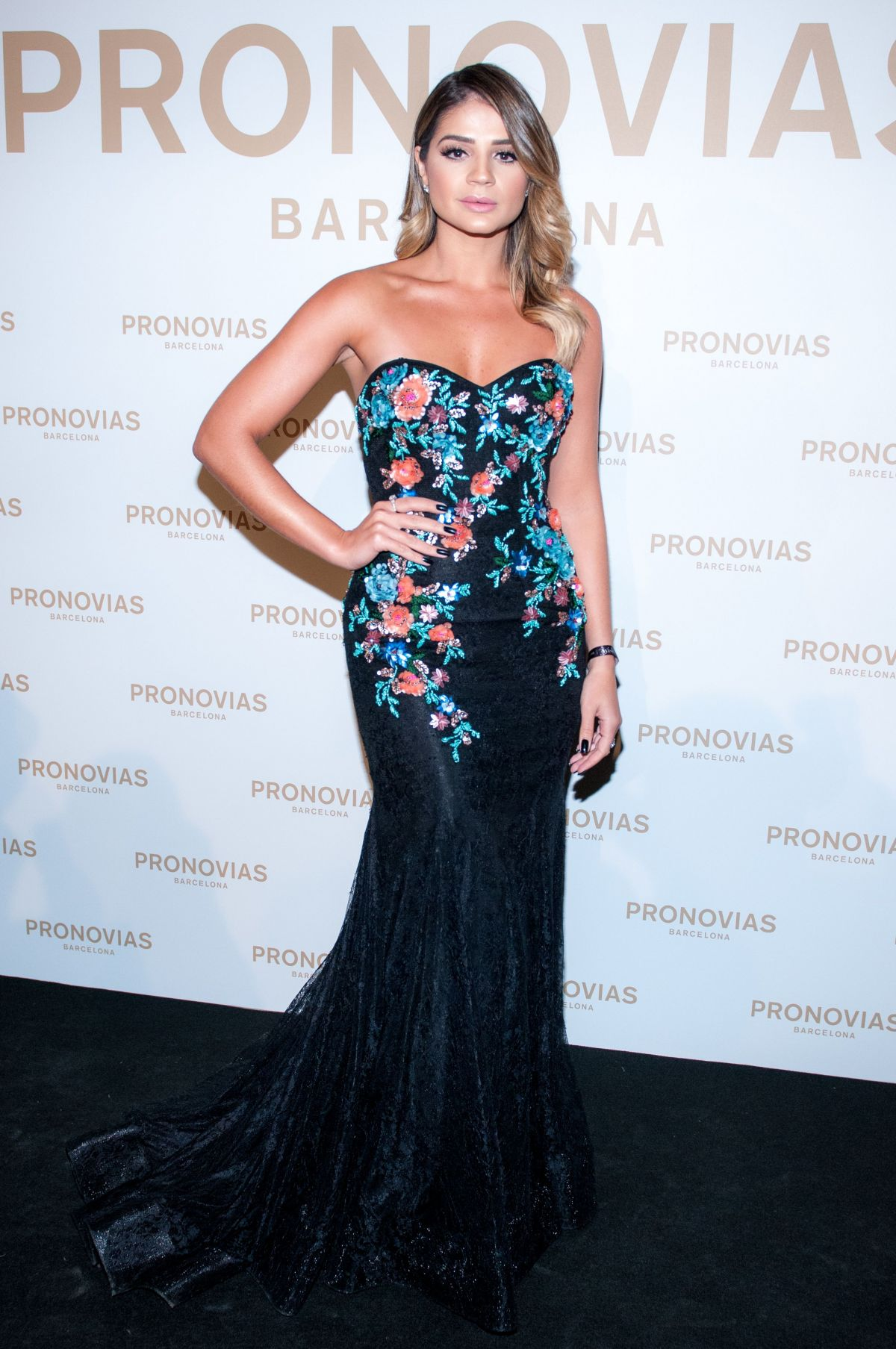 THASSIA NAVES at Barcelona Photocall at Pronovias Catwalk Show 04/28/2017