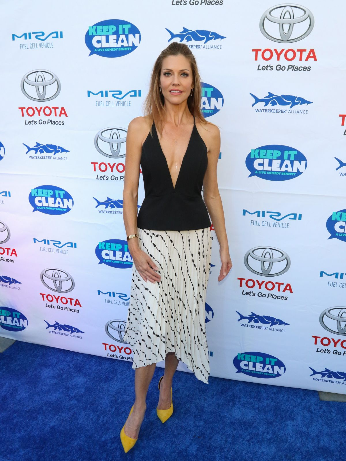 TRICIA HELFER at Keep It Clean Comedy Benefit in Los Angeles 04/21/2017